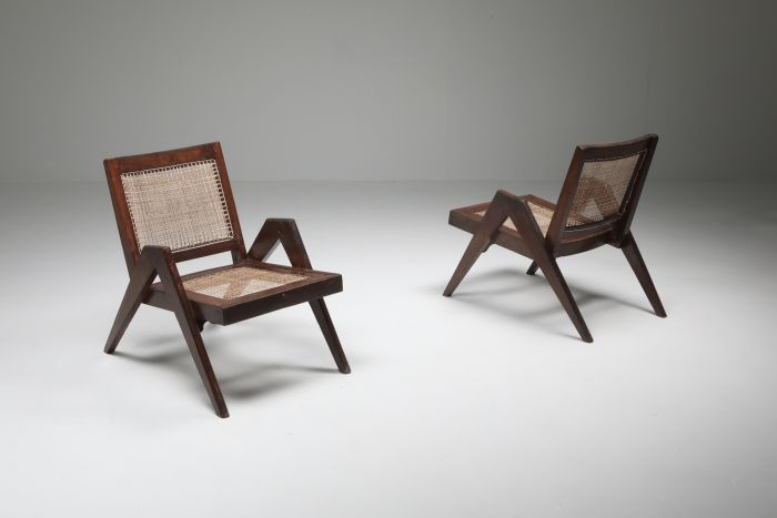 Easy Chairs by Jeanneret, Chandigarh - 1955