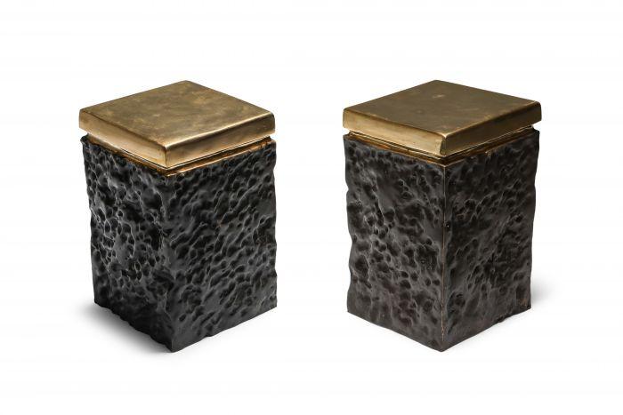 Black and Bronze Lava Stools - 2010