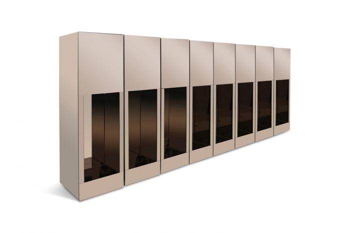 Smoked Mirrored Pedestals - 1970s