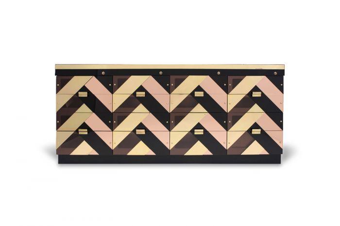 Black And Gold Hollywood Regency Sideboard - 2000s