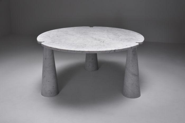 Angelo Mangiarotti 'Eros' Round Marble Dining Table - 1970s