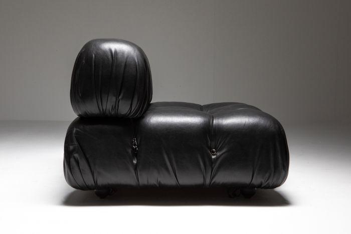 Camaleonda Black Leather Sofa - 1970's