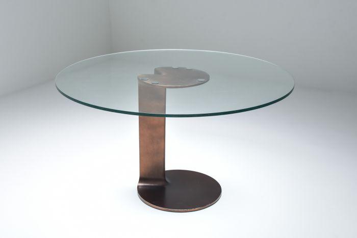 Afra & Tobia Scarpa bronze table TL59 - 1975