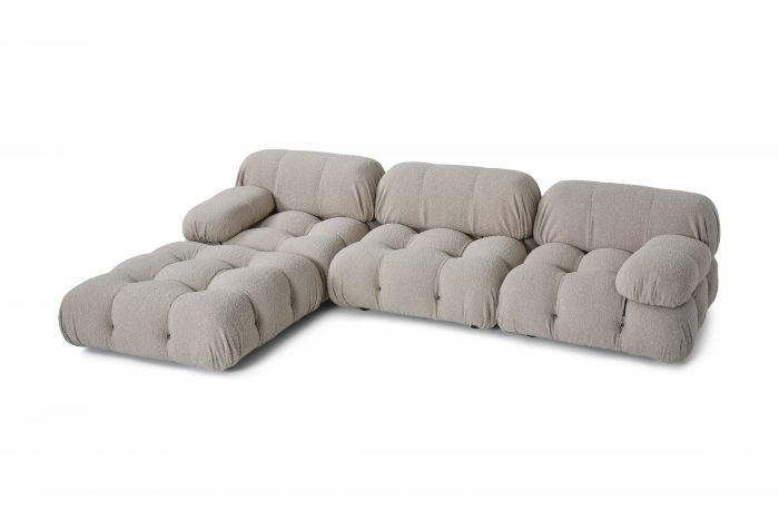 Camaleonda Modular Sofa in Grey Boucle by Mario Bellini - 1970s