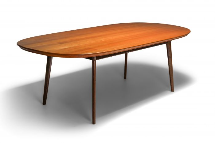 Mid-Century Modern Dining Table in Wengé and Cherry - 1960s