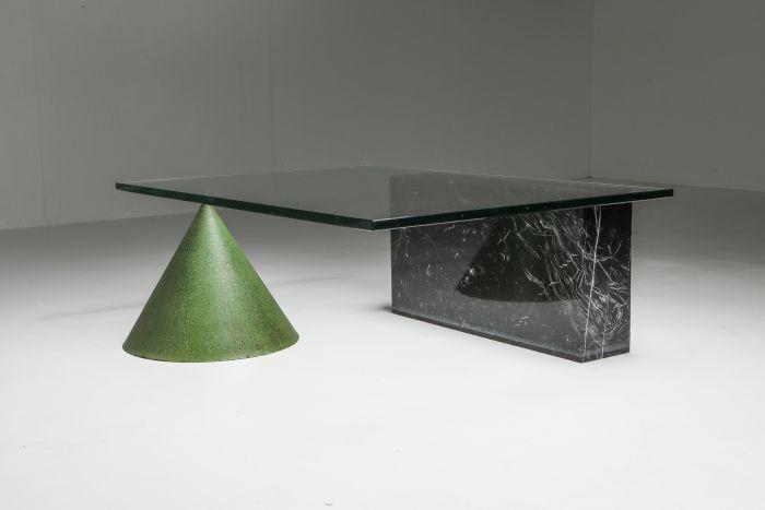 Vignelli Marble and Copper 'Kono' Coffee Table - 1985