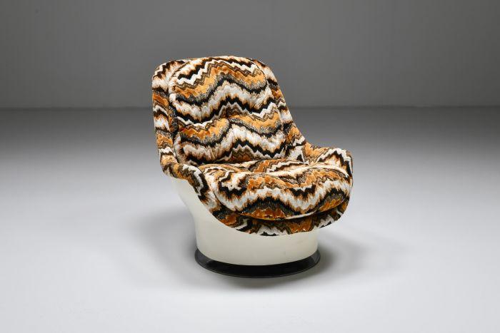 Milo Baughman Swivel Lounge Chair for Thayer Coggin Space Age - 1950's