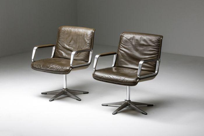 Delta Design Program 2000 Set Chairs in Padded Leather for Wilkhahn - 1960's