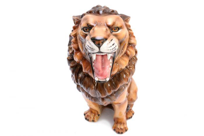 Ceramic Lion Sculpture - 1960s