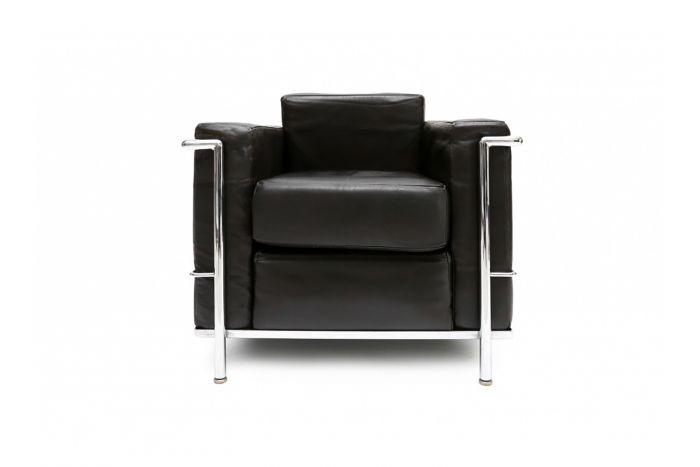 Black Cassina First Edition Armchair, Le Corbusier - 1950s