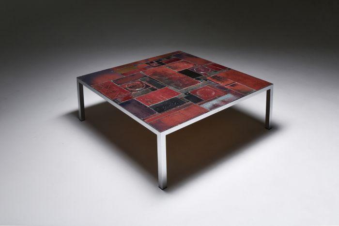 Pia Manu ceramic tile coffee table - 1960s