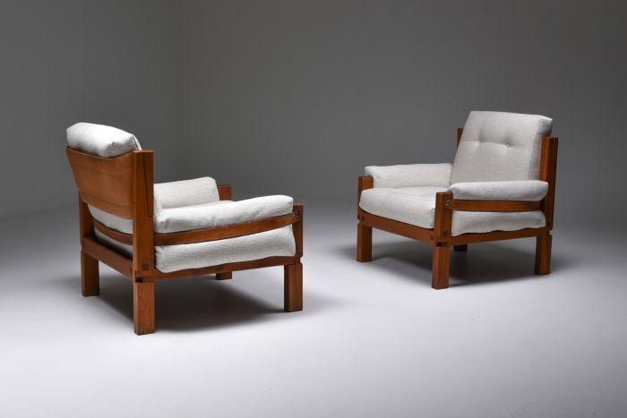 Pierre Chapo S15 easy chairs bouclé - 1964