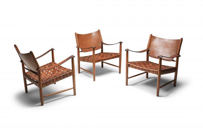 Arne Noréll Safari Chair, Norell Mobel - 1960s