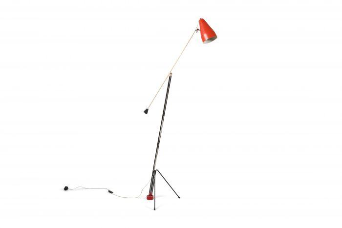 Grashopper floor lamp '6320'by Wim Rietveld for Gispen - 1950's