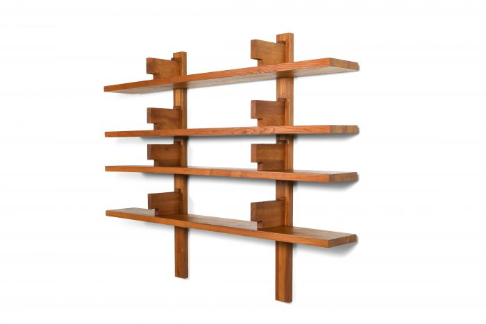 Chapo B17 book shelve in solid French Elm - 1960's