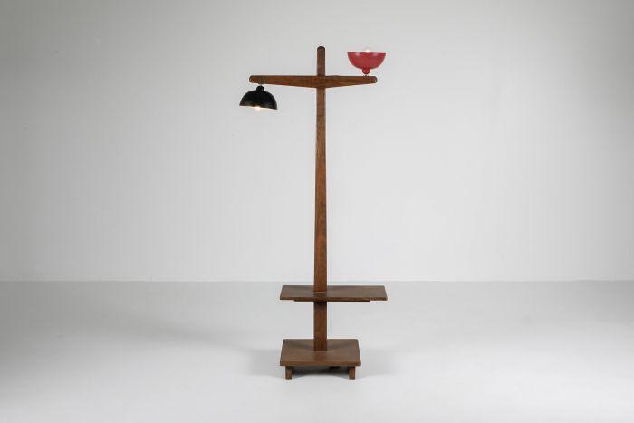 Pierre Jeanneret 'Standard Lamp' PJ-100101 in solid teak - 1955