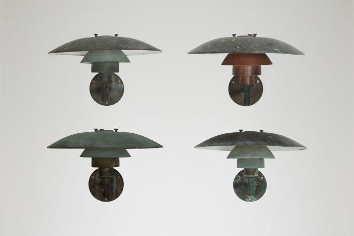 Poul Henningsen Copper Wall Lamps for Louis Poulsen - 1960s