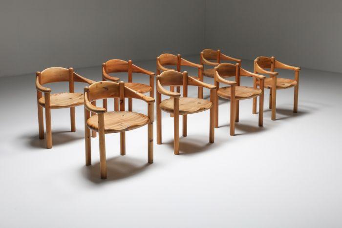 Rainer Daumiller Pine Carver Chairs, Denmark - 1970's