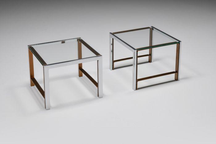 Regency Glass Top Side Table - 1950's