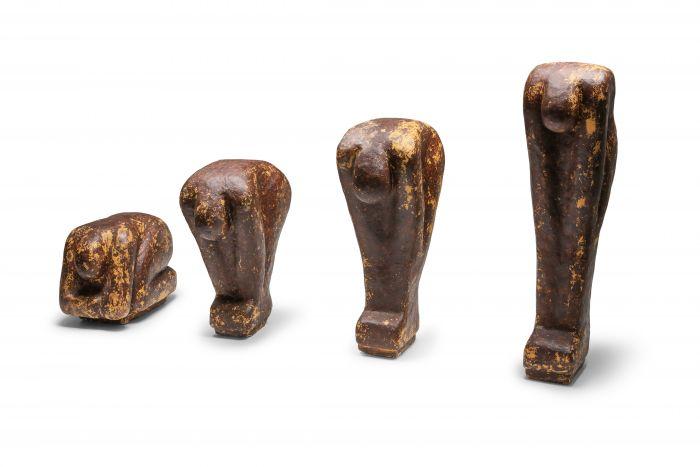Series of Figural Sculptures in Tempex Plaster - 1970's