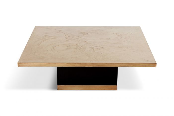 Georges Mathias Coffee Table in Etched Bronze - 1970s