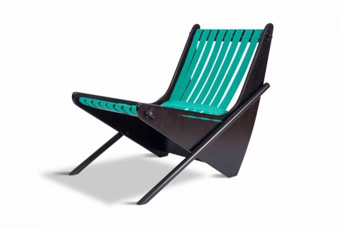 Wooden Lounge Chair Boomerang, Richard Neutra - 1980s