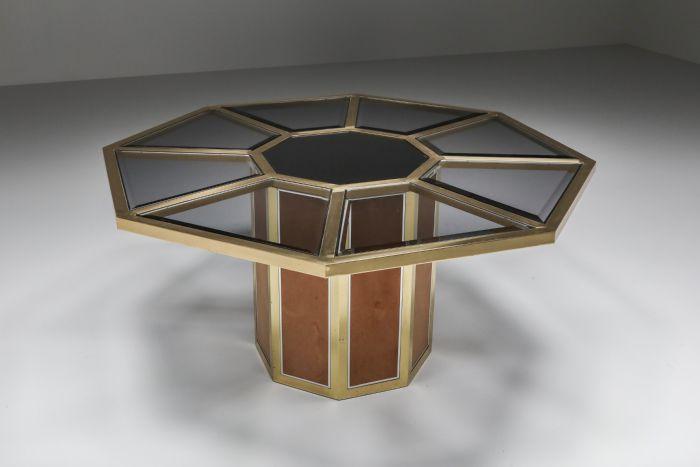 Hollywood Regency Glam Octagonal dining table - 1970's