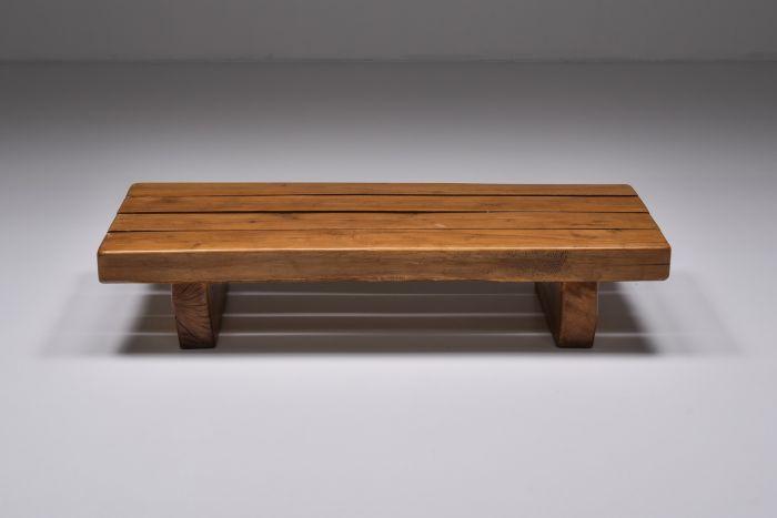 Wabi-Sabi Solid Wood Coffee Table - 1960's