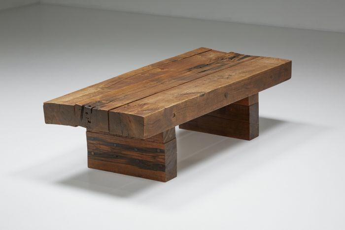 Wabi-Sabi Wooden Coffee Table - 1960's