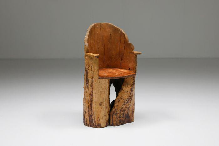Wabi-Sabi organic wooden chair - 1830's