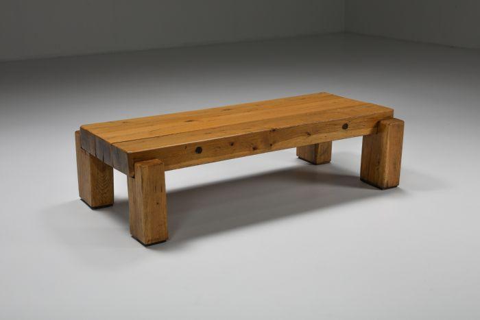 Rustic Wabi-Sabi Wooden Salon Table - 1960's