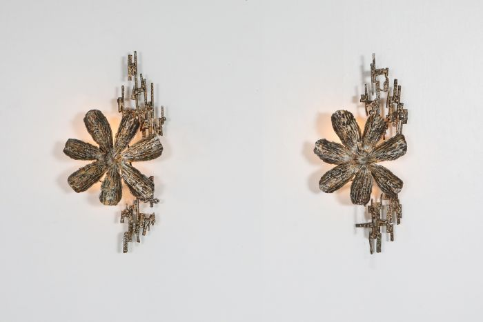 Brutalist Sconces by Salvino Marsura, Italy - 1970's