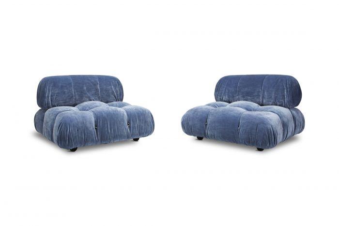 Camaleonda Pair of Seating Elements by Mario Bellini - 1970s