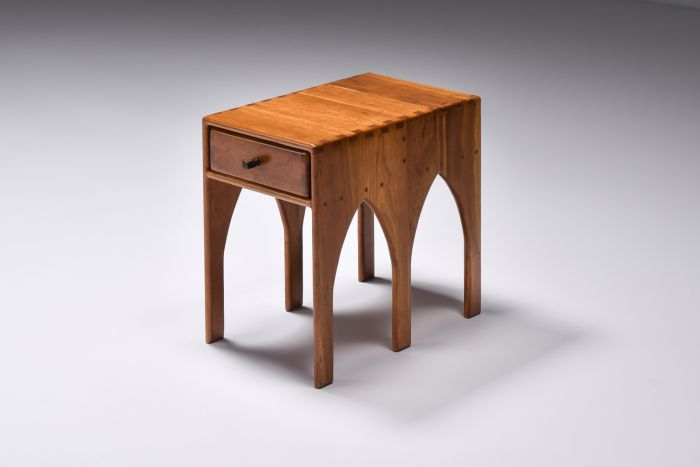 Studio Furniture American Craft Side Table With Drawer on each side - 1970s
