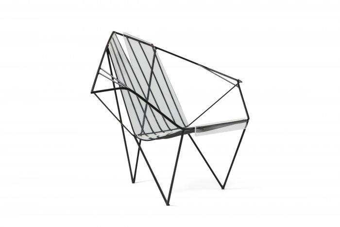 Metal and Perspex Chair - 1970s