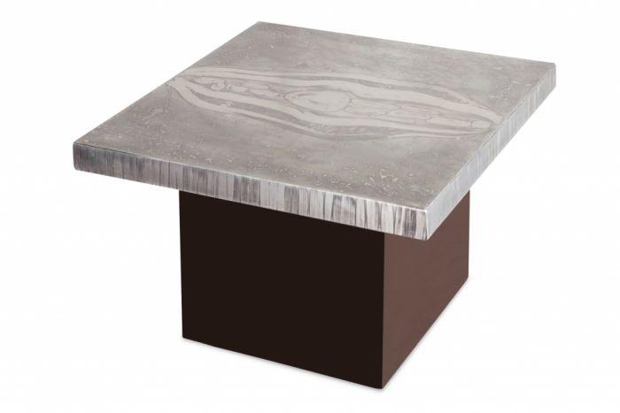Aluminium Etched Coffee Table, Marc D'haenens - 1970s