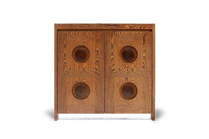 Brutalist Wengé Bar Cabinet - 1970s