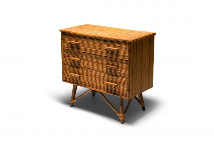 Rattan Drawer Chest by Vivai del Sud - 1970's