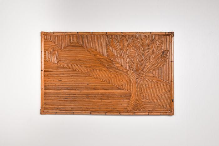 Vivai del Sud rattan and bamboo art piece - 1970's
