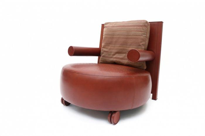 Leather Armchair for B&B Italia, Antonio Citterio - 1970s