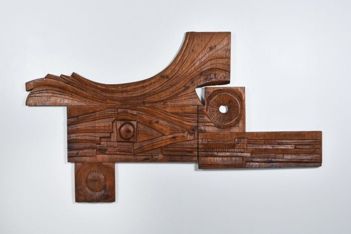 Art Panel hand carved by Nioi, Italy, 1974 in the style of Nerone & Patuzzi - 1974